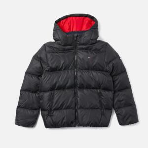 Tommy Hilfiger Boys' Essential Basic Padded Jacket - Tommy Black