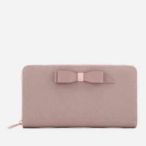d357af5c6acbac Ted Baker Women s Aine Bow Zip Around Matinee Purse - Taupe