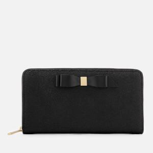 Ted Baker Women's Aine Bow Zip Around Matinee Purse - Black