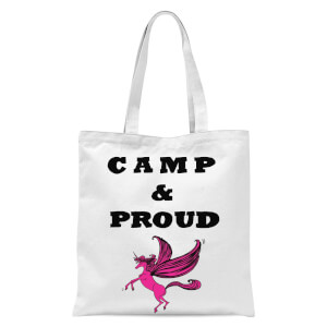 Rock On Ruby Camp & Proud Tote Bag - White