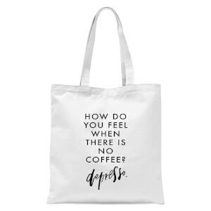PlanetA444 Depresso Tote Bag - White