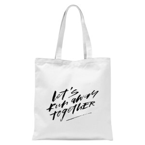PlanetA444 Let' Run Away Together Tote Bag - White