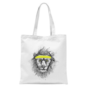 Balazs Solti Lion and Sweatband Tote Bag - White