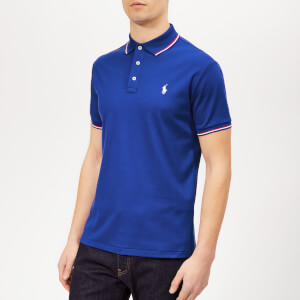 Polo Ralph Lauren Men's Stripe Tipped Pima Polo Shirt - Cruise Royal