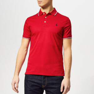 Polo Ralph Lauren Men's Custom Slim Fit Tipped Pima Polo Shirt - RL Red