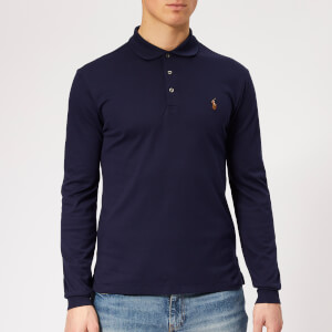 Polo Ralph Lauren Men's Slim Fit Long Sleeve Pima Polo Shirt - French Navy