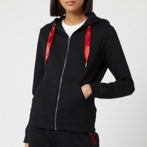 Armani Exchange Women's Zip Up Hoodie - Black