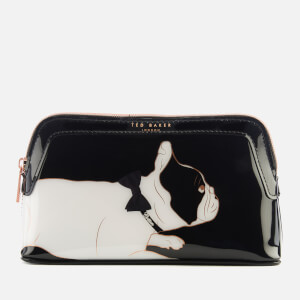 938f6b4b4 Ted Baker Women s Peggyy Cotton Dog PVC Makeup Bag - Black