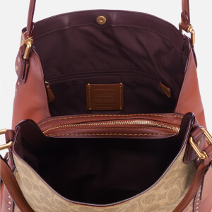 Coach Women's Coated Canvas Signature Edie 31 Shoulder Bag - Rust: Image 6