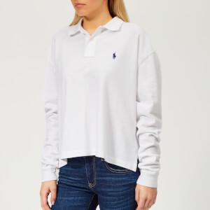 Polo Ralph Lauren Women's Oversized Long Sleeve Polo Shirt - White