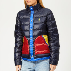 Polo Ralph Lauren Women's Colourblock Down Jacket - Navy/Multi