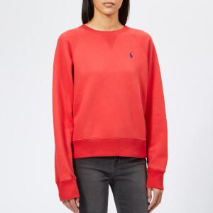 Polo Ralph Lauren Women's PP Crew Neck Sweatshirt - Red