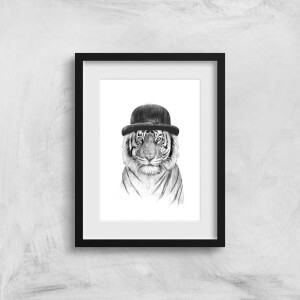 Balazs Solti Tiger In A Hat Art Print