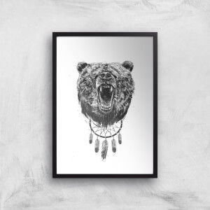 Balazs Solti Dreamcatcher Bear Art Print