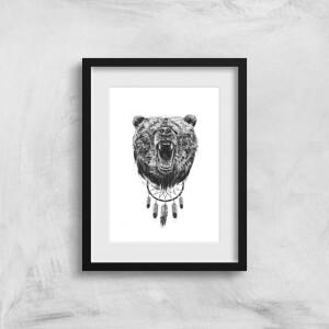 Balazs Solti Dreamcatcher Bear Art Print