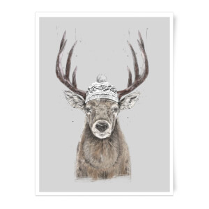 Balazs Solti Winter Deer Art Print