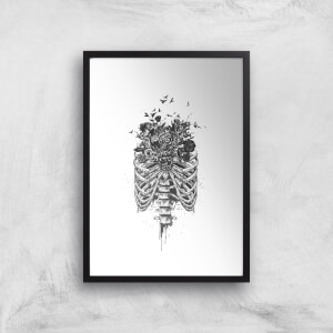 Balazs Solti Ribcage and Flowers Art Print