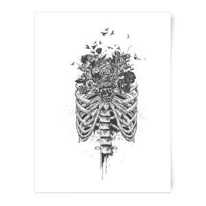 Balazs Solti Ribcage and Flowers Art Print