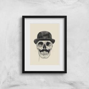 Balazs Solti Monocle Skull Art Print