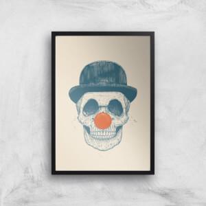 Balazs Solti Red Nosed Skull Art Print