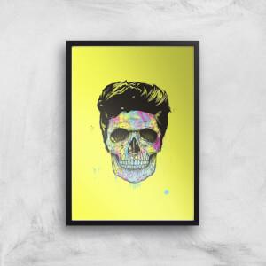 Balazs Solti Colourful Skull Art Print