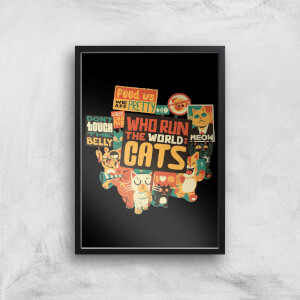 Tobias Fonseca Who Run The World? Cats. Art Print
