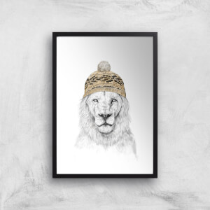 Balazs Solti Lion with Hat Art Print