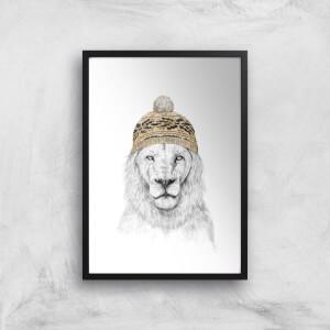 Balazs Solti Lion with Hat Art Print