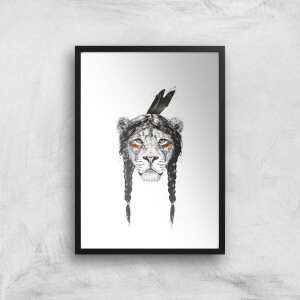 Balazs Solti Native Lion Art Print
