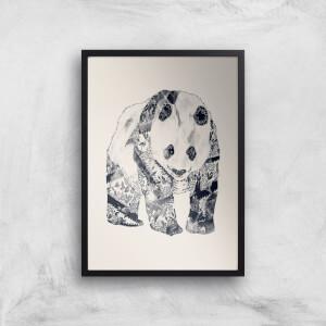 Tobias Fonseca Tattooed Panda Art Print