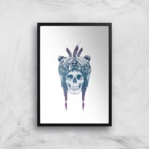 Balazs Solti Bear Head Art Print