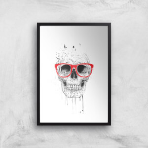 Balazs Solti Skull and Glasses Art Print