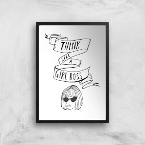 Rock On Ruby Think Like A Girl Boss Art Print