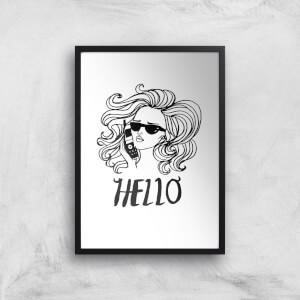 Rock On Ruby Hello Art Print