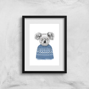 Balazs Solti Koala and Jumper Art Print
