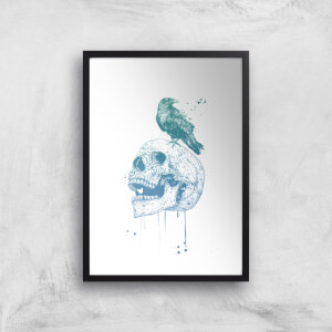 Balazs Solti Skull and Crow Art Print