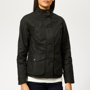 Barbour Women's Newquay Wax Coat - Sage