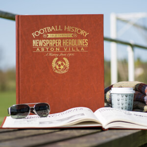 Aston Villa Football Newspaper Book - Brown Leatherette