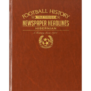 Hibernian Football Newspaper Book - Brown Leatherette