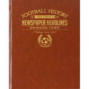 Swindon Newspaper Book - Brown Leatherette