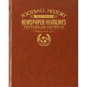 Tottenham Hotspur Newspaper Book - Brown Leatherette