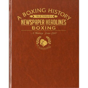 Boxing Newspaper Book - Brown Leatherette