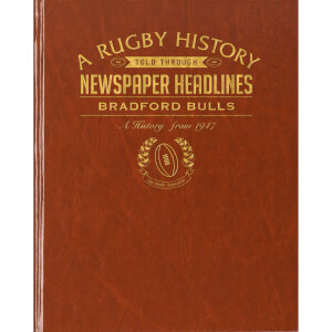 Bradford Bulls Rugby Newspaper Book - Brown Leatherette