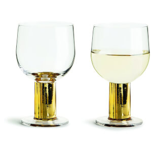 Sagaform Club Wine Glasses - Gold (Set of 2)