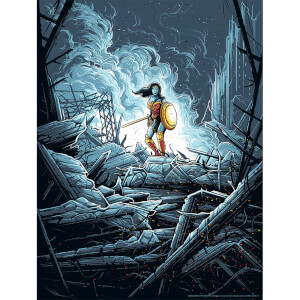 "Sérigraphie DC Comics Wonder Woman ""Warrior"" - Dan Mumford (46 cm x 61 cm) - Couleur Variante"