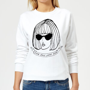 Rock On Ruby Find Your Inner Anna Women's Sweatshirt - White