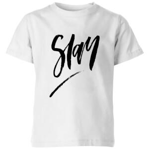 PlanetA444 Slay Kids' T-Shirt - White
