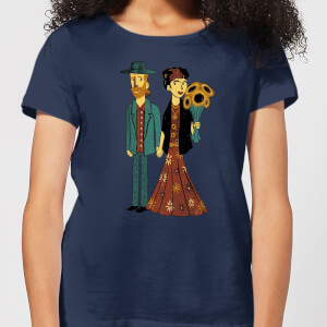 Love Is Art - Frida Kahlo and Van Gogh Women's T-Shirt - Navy