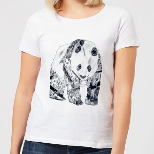 Tattooed Panda Women's T-Shirt - White