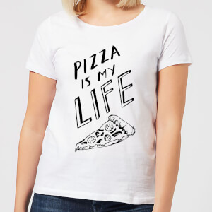 Pizza Is My Life Women's T-Shirt - White